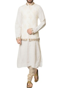 white-khadi-cotton-embroidered-jacket-with-kurta-hand-block-print-churidar