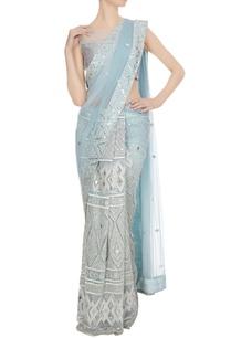 powder-blue-mirror-resham-embroidered-saree-with-blouse