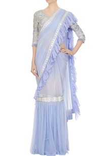 violet-embroidered-blouse-with-net-ruffle-detail-frilly-saree