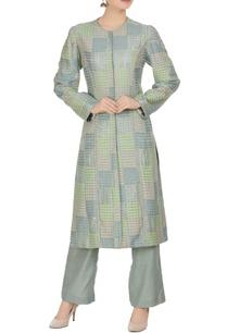 geometric-banarasi-hand-woven-kurta-with-straight-pants