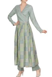 hand-woven-cotton-silk-angrakha-kurta-with-pants