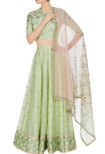 hand-woven-cotton-silk-butterfly-lehenga-set