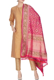 banarasi-silk-animal-brocade-pattern-dupatta