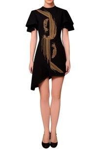 black-satin-bead-hand-embroidered-dress