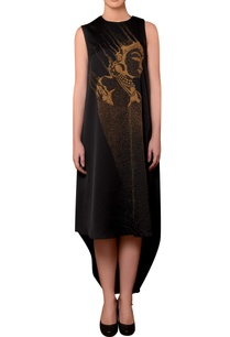 black-satin-bead-hand-embroidered-dress