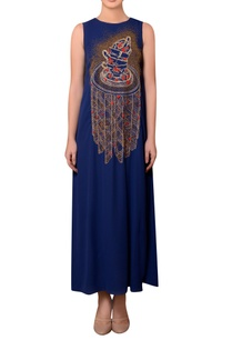 royal-blue-viscose-georgette-bead-thread-hand-embroidered-dress