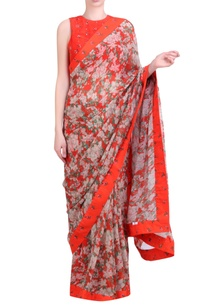 carrot-orange-chiffon-bibi-jaal-sari-with-blouse