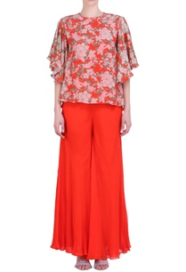carrot-orange-crepe-bibi-jaal-printed-flared-top-with-sharara