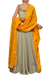 bluish-grey-mustard-yellow-silk-chanderi-cotton-dhakai-cotton-lycra-hand-embroidered-kalidar-kurta-with-dupatta