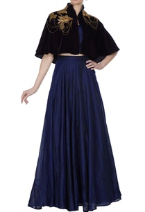 purple-velvet-short-embroidered-cape