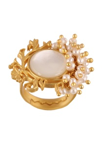 gold-brass-22kt-gold-plated-ring-with-mother-of-pearl-and-pearl-beads