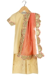 gold-embroidered-organic-cotton-kurta-with-pants-dupatta