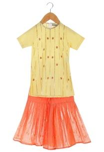 yellow-organic-cotton-kurta-with-sharara-pants
