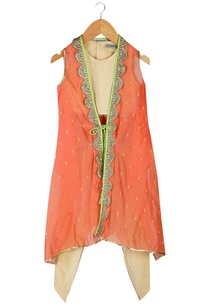 beige-crop-top-with-dhoti-pants-orange-jacket
