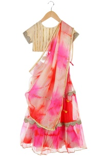 multicolored-tie-dye-lehenga-with-tie-up-blouse