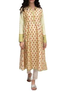 beige-silk-block-printed-tunic