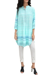 turquoise-block-printed-signature-hand-brushed-tunic