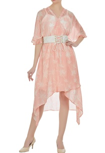 block-printed-floral-asymmetric-dress-with-inner