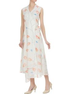 multiprinted-sleeveless-overlap-dress