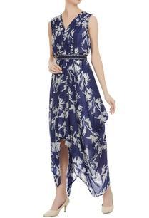 block-printed-floral-draped-dress