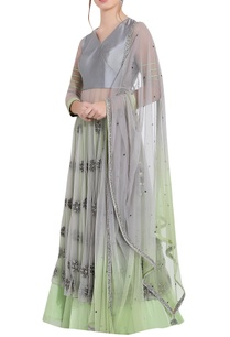 grey-green-silk-thread-work-ari-technique-anarkali-with-separate-skirt