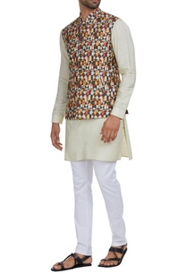 raw-silk-multicolored-nehru-jacket-with-kurta-pants