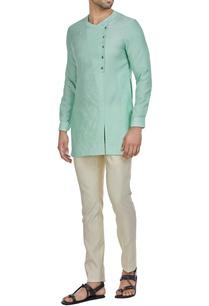 cotton-silk-short-overlap-kurta-pants