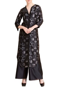 black-floral-tunic