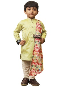 triangle-drape-kurta-set