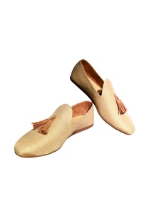 beige-fabric-handcrafted-tassel-loafer