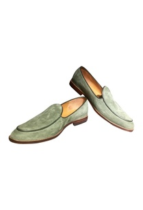 green-suede-leather-loafers