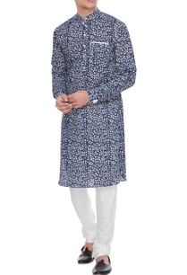 blue-white-printed-cotton-kurta-with-pants