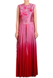 pink-dupion-silk-georgette-cotton-satin-lycra-machine-embroidered-anarkali-tunic-with-trousers