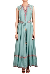 light-blue-georgette-raw-silk-linen-machine-hand-embroidered-flared-tunic