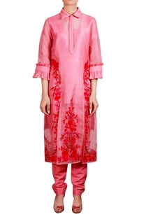 coral-red-embroidered-collar-jacket-with-salwar-inner