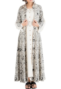 ivory-tropical-embroidered-shirt-dress-with-frayed-edges