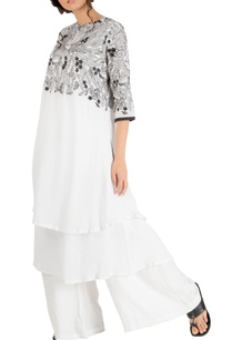 white-double-layer-embroidered-yoke-tunic-with-pants