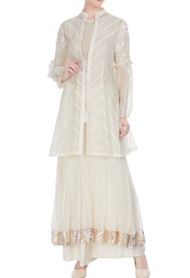 white-chanderi-pearl-thread-embroidered-jacket-set