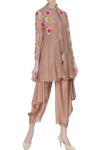 brown-chanderi-floral-embroidered-jacket-set