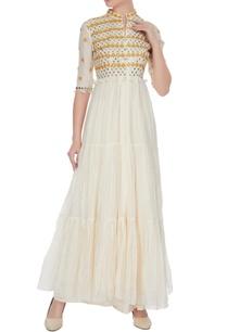 off-white-chanderi-tiered-style-abhla-mirror-work-kurta-with-pants