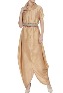 beige-silk-cowl-neck-jumpsuit-with-embroidered-belt