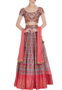 grey-pink-printed-lehenga-with-embroidered-blouse-dupatta