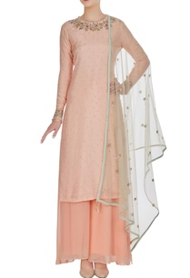 blush-pink-hand-embroidered-tussar-silk-fitted-kurta-set