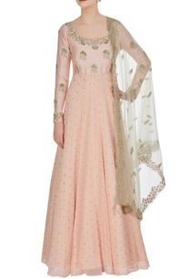 blush-pink-hand-embroidered-raw-silk-anarkali-set