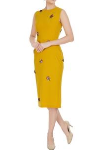 yellow-micro-crepe-peonies-pencil-dress