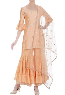 ruffle-sleeves-embroidered-kurta-with-gharara-and-dupatta