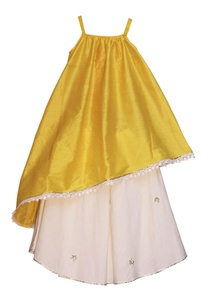 sorbet-yellow-asymmetric-kurta-with-off-white-lehenga