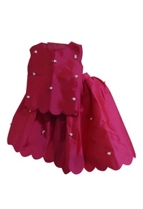 dark-pink-taffeta-silk-flared-skirt-with-blouse