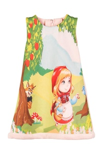 multicolored-red-riding-hood-printed-dress