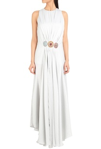hand-embroidered-draped-dress